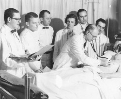 Janet Wolter, MD, in 1954, when she was chief resident at the University of Illinois Research and Education Hospital.