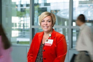 Jennifer M. Grenier, MSN, RN-BC, director, Telemetry and Resource Team, Rush Oak Park Hospital. Grenier sees the empowerment of her staff of nurses as a direct way to advocate for higher levels of patient care. She has spearheaded many initiatives, including the creation of a daily report card for patients and families outlining the treatment plan and providing needed education. Most recently, Grenier has taken the lead on Rush Oak Park Hospital's surplus project, which donates food not used at the hospital to a local food pantry.