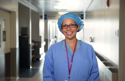 Natalie Velazquez, RN, assistant unit director and operating room nurse, Rush University Medical Center.Velazquez started a chapter of the Association of Perioperative Registered Nurses at Rush and has been president of the chapter for more than a year. She has a passion for volunteer work, initiating a winter coat and mittens drive for children in need. She also is quick to act: Velazquez recently took initiative in a code blue — an alert at a hospital when a patient is in need of resuscitation — and performed chest compressions on a patient.