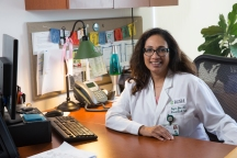 """Sayona John, MD Excellence in Clinical Service Associate Professor, Department of Neurological Sciences, Rush University Head, Section of Critical Care Neurology, Department of Neurological Sciences """"Dr. John is a brilliant and dedicated physician who has her patients' best interest at heart, and she has the tenacity and fortitude necessary to get the job done. Clinically, she is conscientious and thoughtful, and is a fierce champion for her patients."""" — Vivien Lee, MD, Associate Professor, Department of Neurological Sciences"""